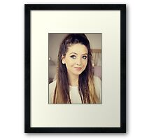 Zoella (Zoe Sugg!) Framed Print