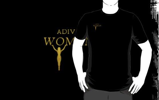 ADIVAWOMAN WITH LOGO T SHIRT POCKET IMAGE by adivawoman