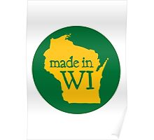 Made in WI - Green Circle Poster