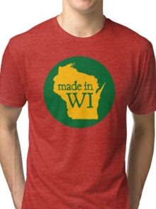 Made in WI - Green Circle Tri-blend T-Shirt
