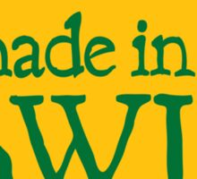 Made in WI - Green Circle Sticker