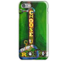 I choose you and rocks iPhone Case/Skin
