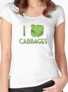 I Heart Cabbages Women's Fitted Scoop T-Shirt