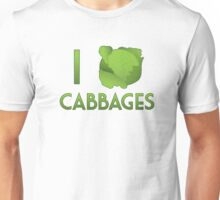 I Heart Cabbages Unisex T-Shirt