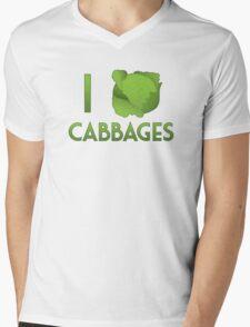 I Heart Cabbages Mens V-Neck T-Shirt
