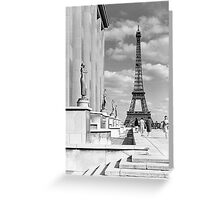 France Paris Eiffel tour Chaillot palace 1970 Greeting Card