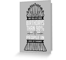 Birthdays | White Greeting Card