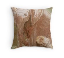 Mother & Baby by Bonnie Pelton Throw Pillow