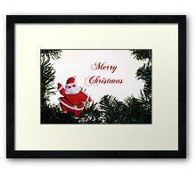 Vintage Santa Framed Print