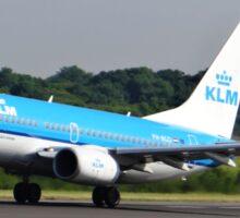 KLM 737 Departing Manchester Airport Sticker