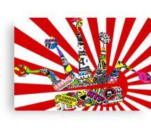 Rising Sun W/ Stickerbomb JDM Crown Canvas Print