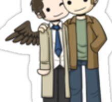 Destiel (dean + cas hugging)  Sticker