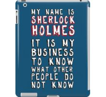 My name is Sherlock Holmes iPad Case/Skin