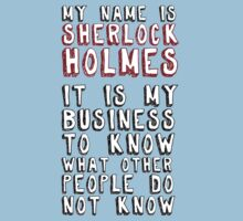 My name is Sherlock Holmes by ScabbyKnickers