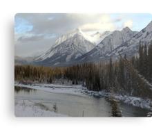 Early winter snowfall, Banff National Park Metal Print