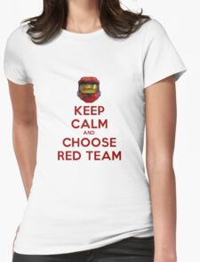 Halo Keep Calm Womens Fitted T-Shirt