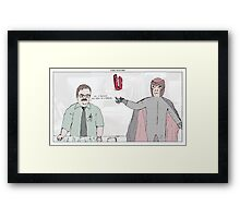 X-Men + Office Space Framed Print