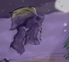 The Fish and the Moon by BashsArt