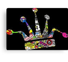 Stickerbomb JDM Crown Canvas Print