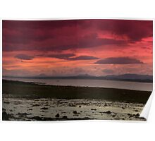 Red Sky of the Forth Poster