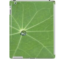 Portfolio: Water bead on Nasturtium leaf, Big Island, Hawai'i iPad Case/Skin