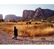 As He Captures Meteora Photographic Print