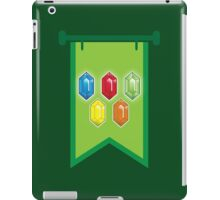 BANNER CREST SIGIL Green with 5 jewels rupees Blue, red, green and orange iPad Case/Skin