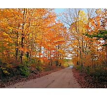 Sunset Trail in Autumn Photographic Print