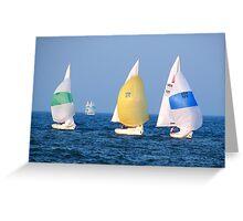 Sailboats on Lake Ontario Greeting Card