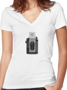 Argus Argoflex Seventy-five - Halftone Women's Fitted V-Neck T-Shirt