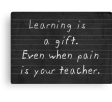 The Gift of Learning Canvas Print