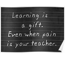 The Gift of Learning Poster