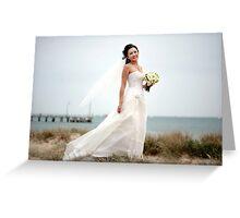 Beach Bride Greeting Card