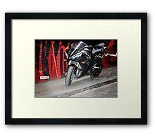 graffiti bike Framed Print