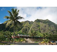 Kualoa Ranch Mountains Photographic Print
