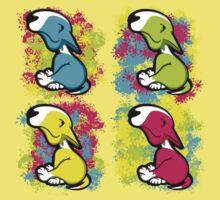 Colour Splash Innocent English Bull Terrier Puppies Kids Clothes