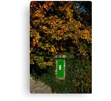 Autumn Legan Postbox, Ireland Canvas Print