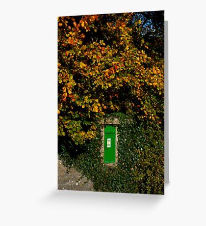 Autumn Legan Postbox, Ireland Greeting Card