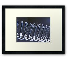 Wire Brush Macro Framed Print