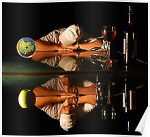 Double self-portrait with an apple Poster