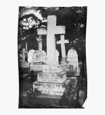Graveyard Adornment #51 - Pinhole Photography on DSLR Poster