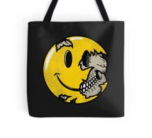 Smiley face skull Tote Bag