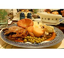Dig in! A Delicious Gravy Dinner Photographic Print