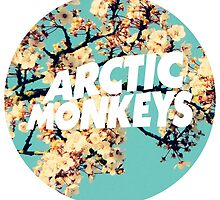 arctic monkeys flowers circle logo by Lily Wilkinson