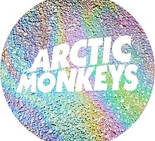 arctic monkeys oil spill circle logo by Lily Wilkinson