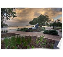 Cotton Tree Park at Dusk-HDR Poster