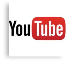 YouTube Full Logo - Red on White Canvas Print