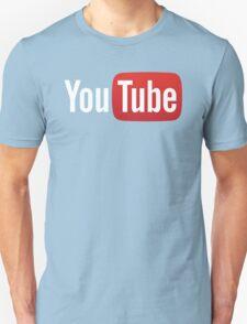 YouTube Full Logo - Red on Black Unisex T-Shirt