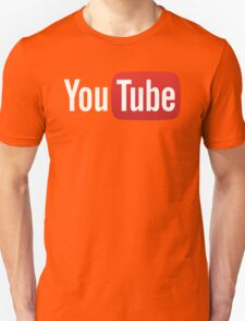 YouTube Full Logo - Red on Black Unisex T-Shirt