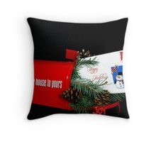 Holiday Mail Throw Pillow